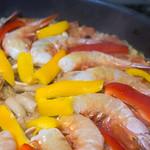 Homemade Paella 4/9 - Add Prawn and Paprika