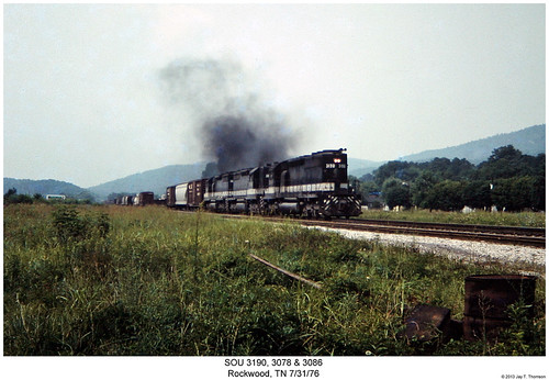 railroad train diesel tennessee railway trains southern locomotive trainengine sr sou rockwood emd sd40 sixaxle sd35