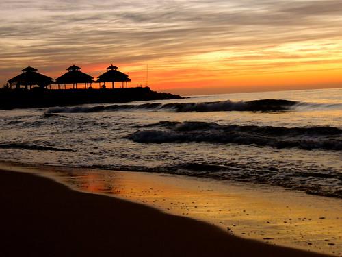 sun beach night strand waves cloudy sonne wellen