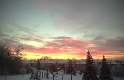 christmas morning sunrise landscape iphoneography