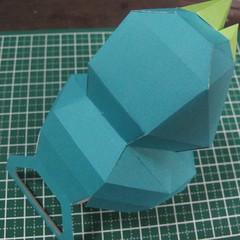 วิธีทำของเล่นโมเดลกระดาษรูปนก (Bird Paper craft ) 020