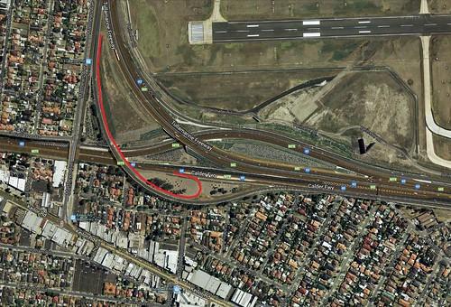 Tullamarine Freeway at the Calder Freeway interchange