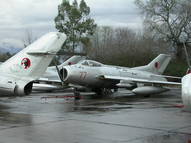 Shenyang F-6 3-77 c/n 7117 ex Albanian-AF. (Stored Tirana-Rinas, 14-03-2013)