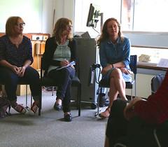 Dr Claire Hind, Hazel Colquhoun and Lara Goodband.