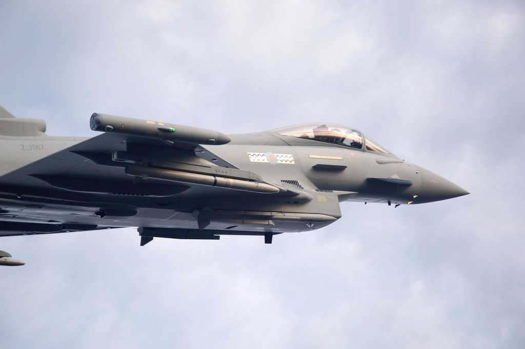 RAF Typhoon Aircraft Carrying Meteor Missiles, From CreativeCommonsPhoto