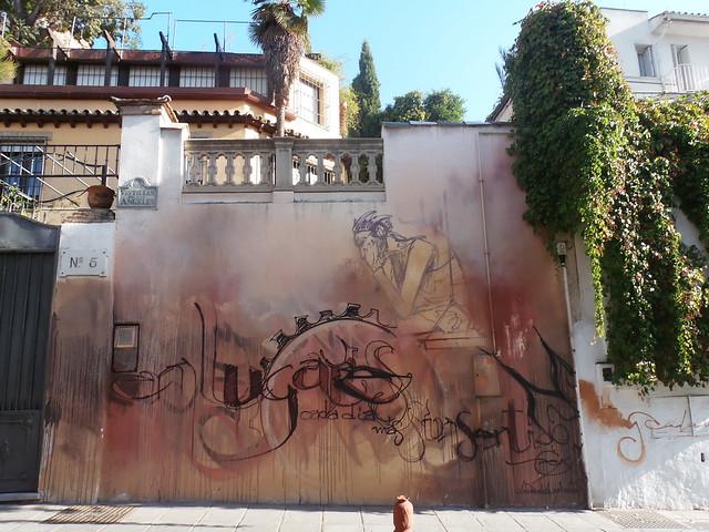 Andalousie, Grenade, calle Vistillas de Los Angeles