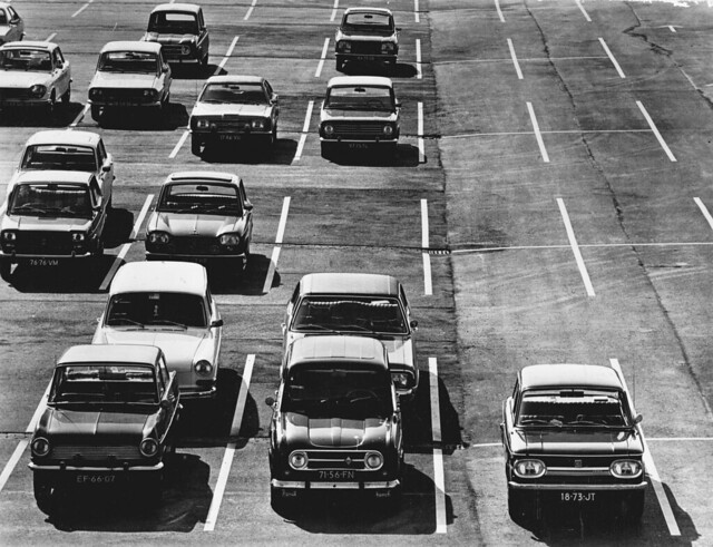'70 parking lot somewhere in The Netherlands ☺!