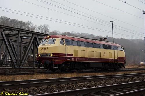 218 105-5 Tfzf durch Eisenach am 06.02.2017 | by Photography Sebastian Winter