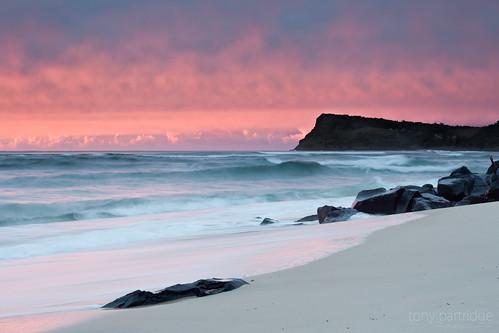 seascape beach sunrise australia lennoxhead