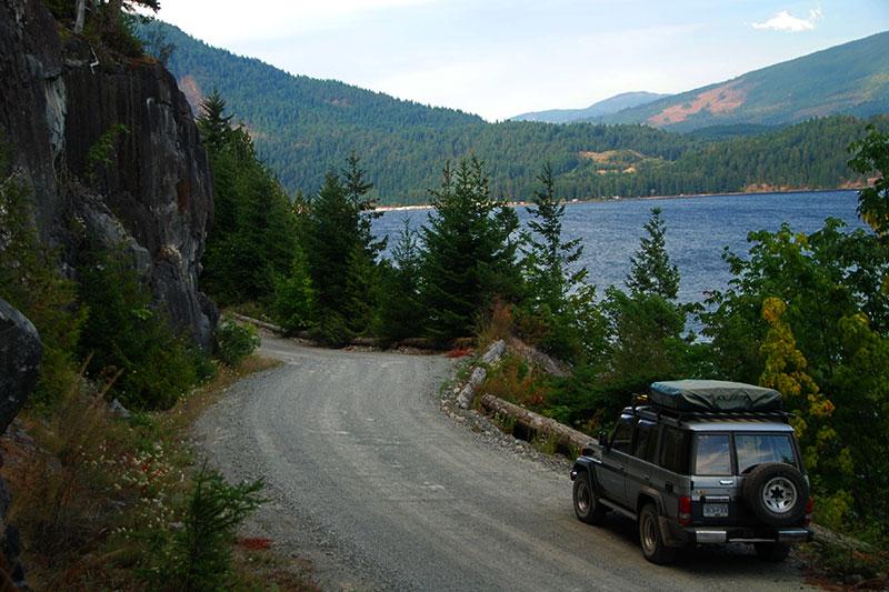 Alberni Inlet viewed from Canal Main, Port Alberni, Alberni Valley, Vancouver Island, British Columbia