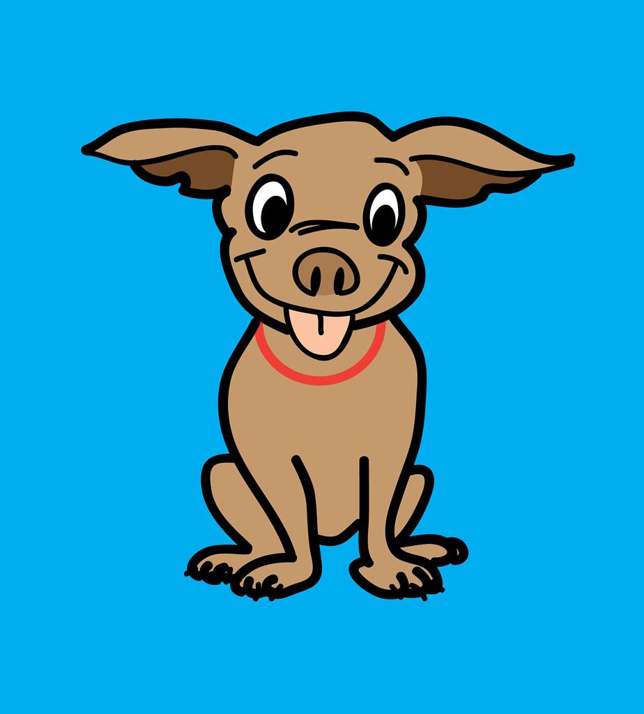 Cartoon Dog Linus Copyright Free Cartoon Of A Cute Dog N Brad Hall Flickr