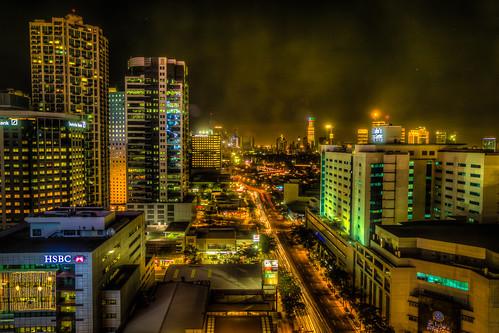 light skyline night view nighttime manila hdr highup thefort bonifacio 16thfloor f1hotelmanila