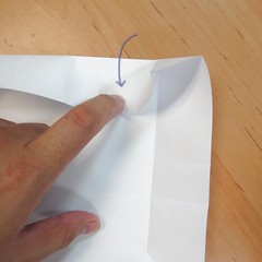 สอนการพับกระดาษเป็นที่ใส่ของรูปกลีบกุหลาบ (Rose box origami) 025