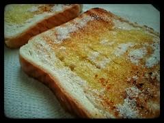 Pan con aceite y azucar