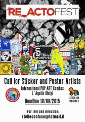 Re-Acto Fest Call Stickers and Posters