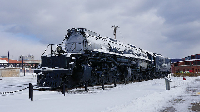 Union Pacific Big Boy 4012 In The Snow!