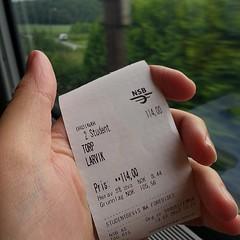 de treinconducteur schatte ons erg jong in, vanochtend #norway #larvik