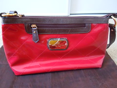 TOMMY HILFIGER Iconic Womens Handbags Small Shoulder Bag Color Red