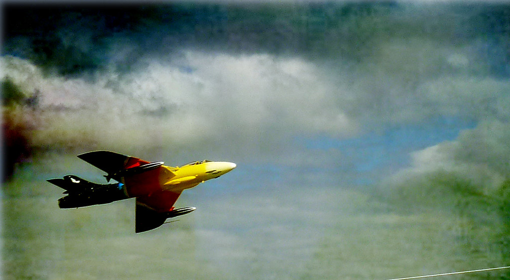RAF Hawker Hunter at Newcastle, Co. Down airshow
