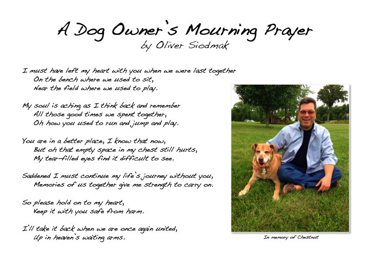 Dog Owner's Mourning Prayer by Oliver Siodmak | A mourner's