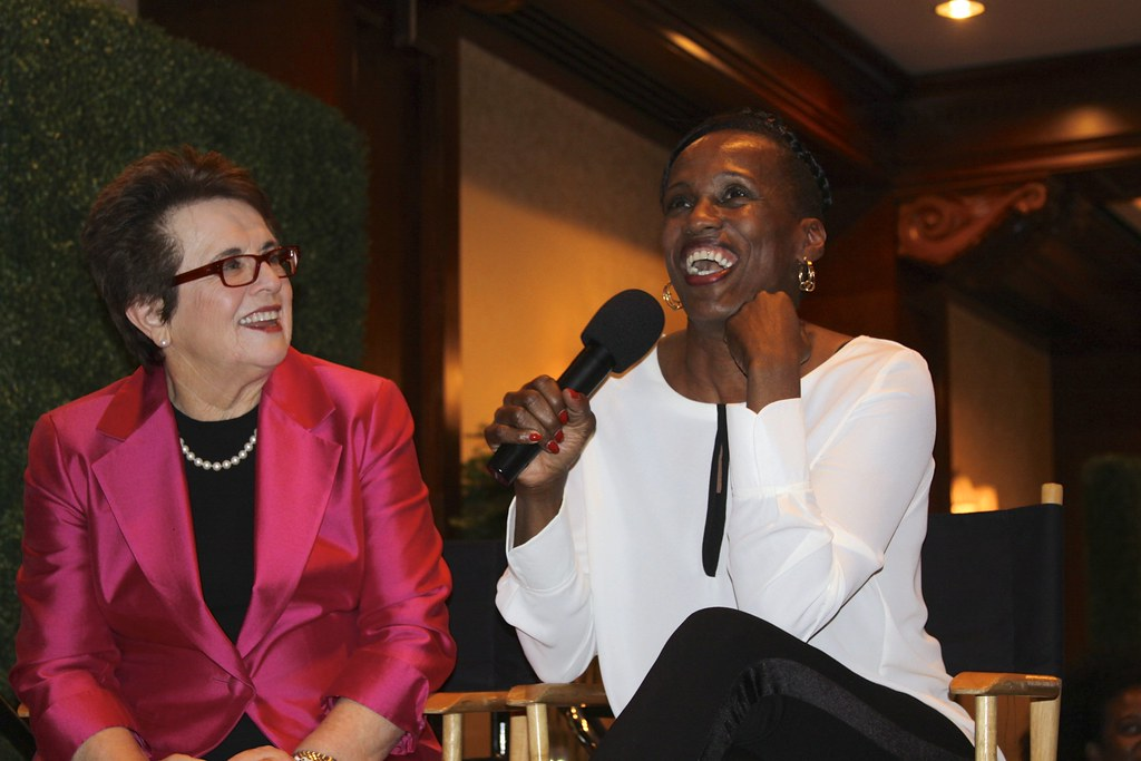Billie Jean King and Jackie Joyner Kersee