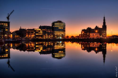 blue sunset orange reflection napoleon 1811 bonapartedock m0nt2
