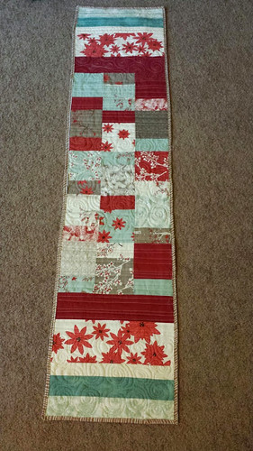 Winter side - table runner | by quiltyhabit