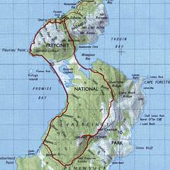 Freycinet Peninsula Track Route