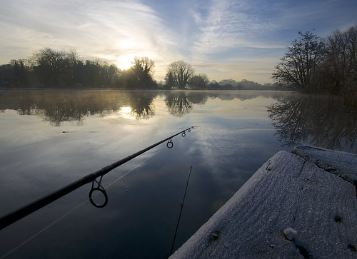sunrise reflections river fishing perspective rod yare