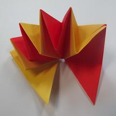 วิธีการพับกระดาษเป็นดาวหกแฉกแบบโมดูล่า 018