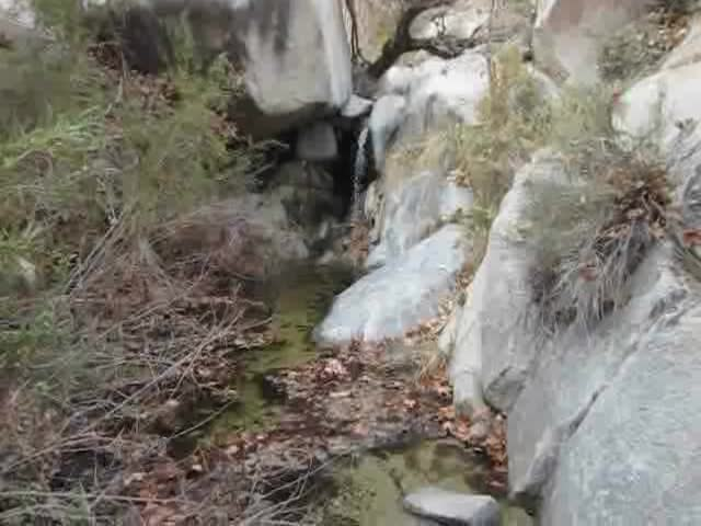 480 Video of a small waterfall in lower Sheep Canyon