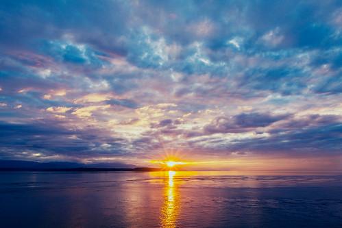 sunset clouds admiraltyinlet islandcounty fortcaseystatepark