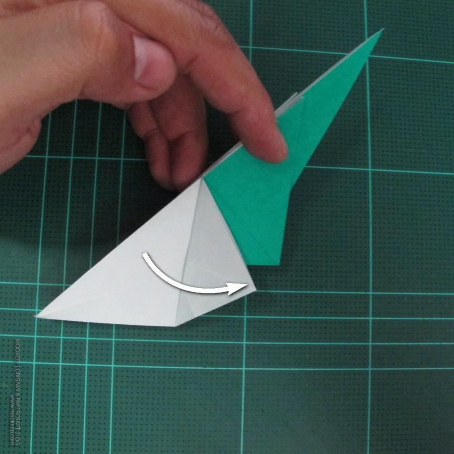 วิธีพับกระดาษเป็นรูปหมู (Origami Pig) 005