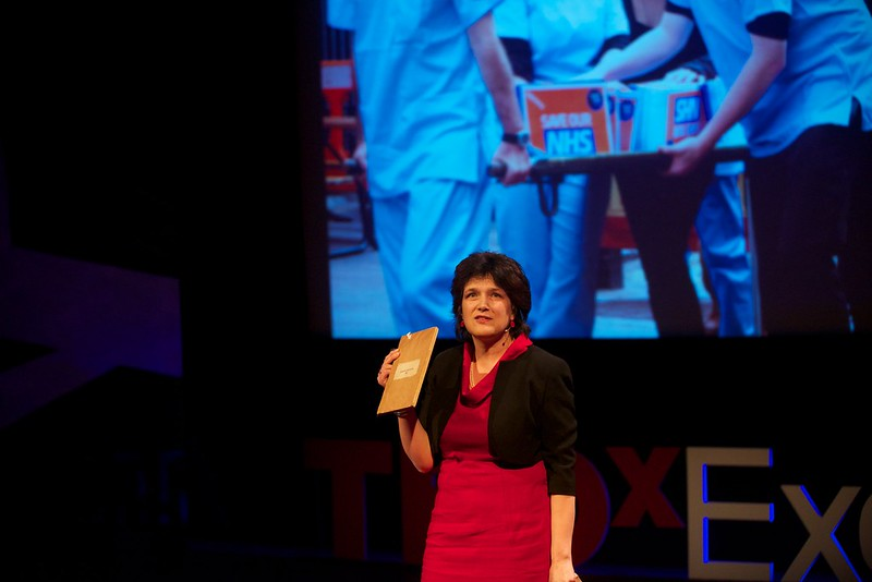 Allyson Pollock speaking live at TEDxExeter 2014