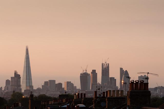 London's skyline, from Peckham