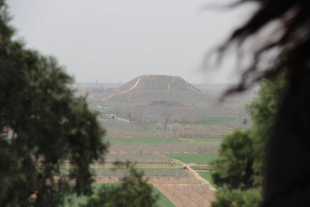 Han Tomb Viewed from Top of Tomb of Han General Huo Qubing