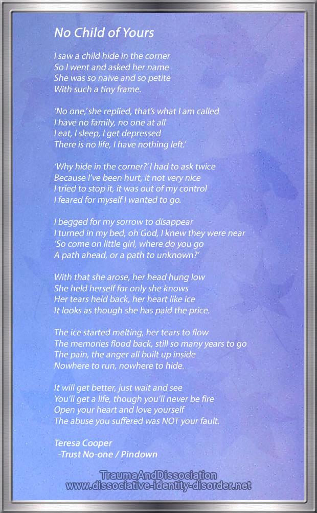 wiki ad trust no-one poem   Teresa Cooper survivor of
