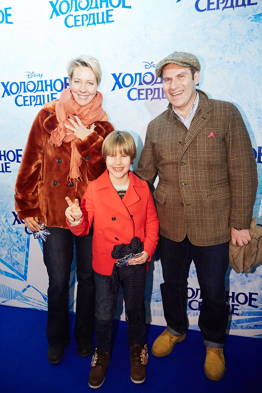 FROZEN_Moscow Premiere_Tatiana Lazareva, Mikhail Shats s docheryu