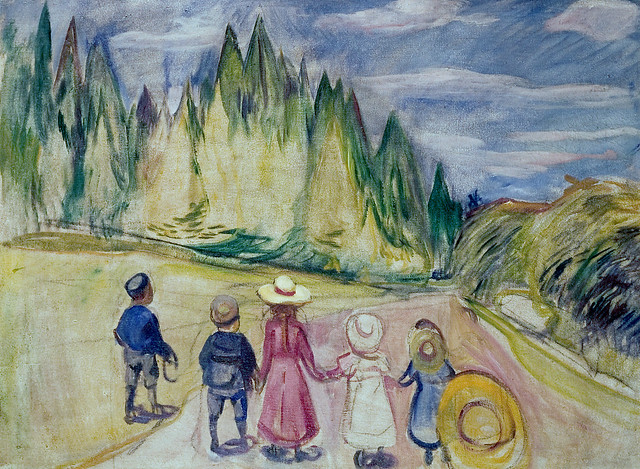 Edvard Munch - The fairytale forest [1901-02]
