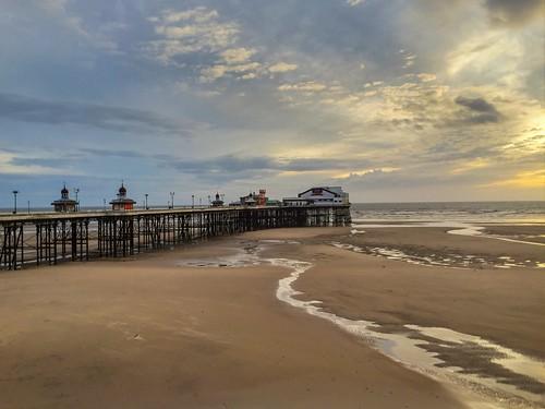 sunset sea beach sunrise coast pier sand structure irishsea