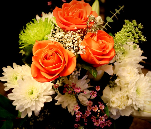 Roses w/ Mixed  Bouquet of Flowers