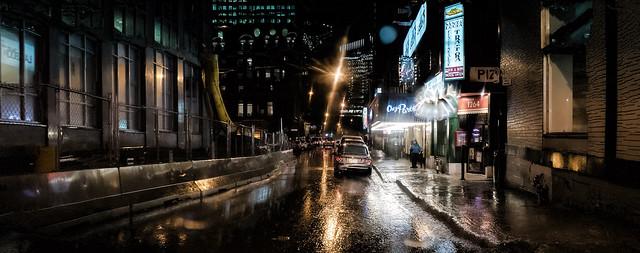 Rainy Saturday Night on Stanley Street