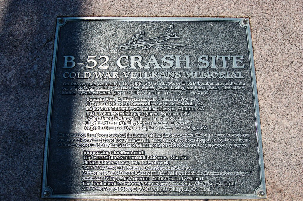 Accident Memorial: B-52 Crash Site, Cold War Veterans Memo