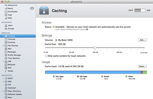 Mac OSX Server Caching service | by harusoma