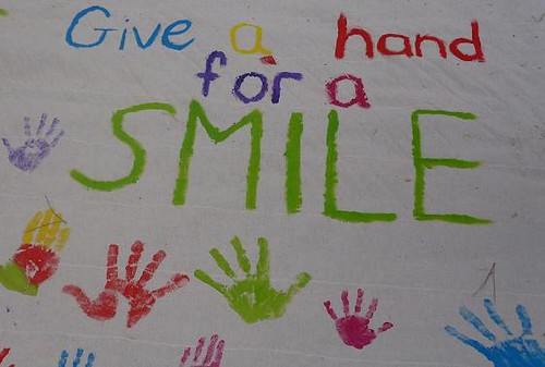 give a hand for a smile | by Natasa Pantovic Nuit