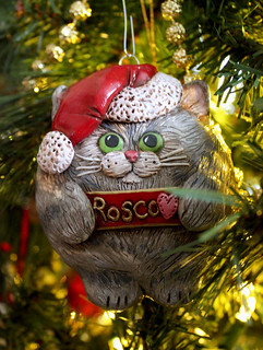 Polymer clay cat ornament