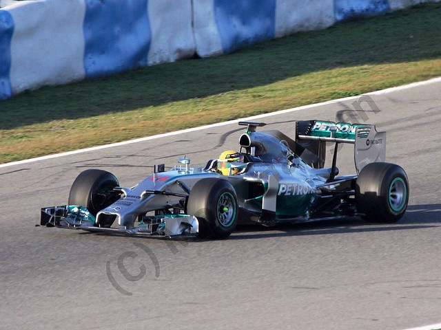 Lewis Hamilton in Formula One Winter Testing 2014