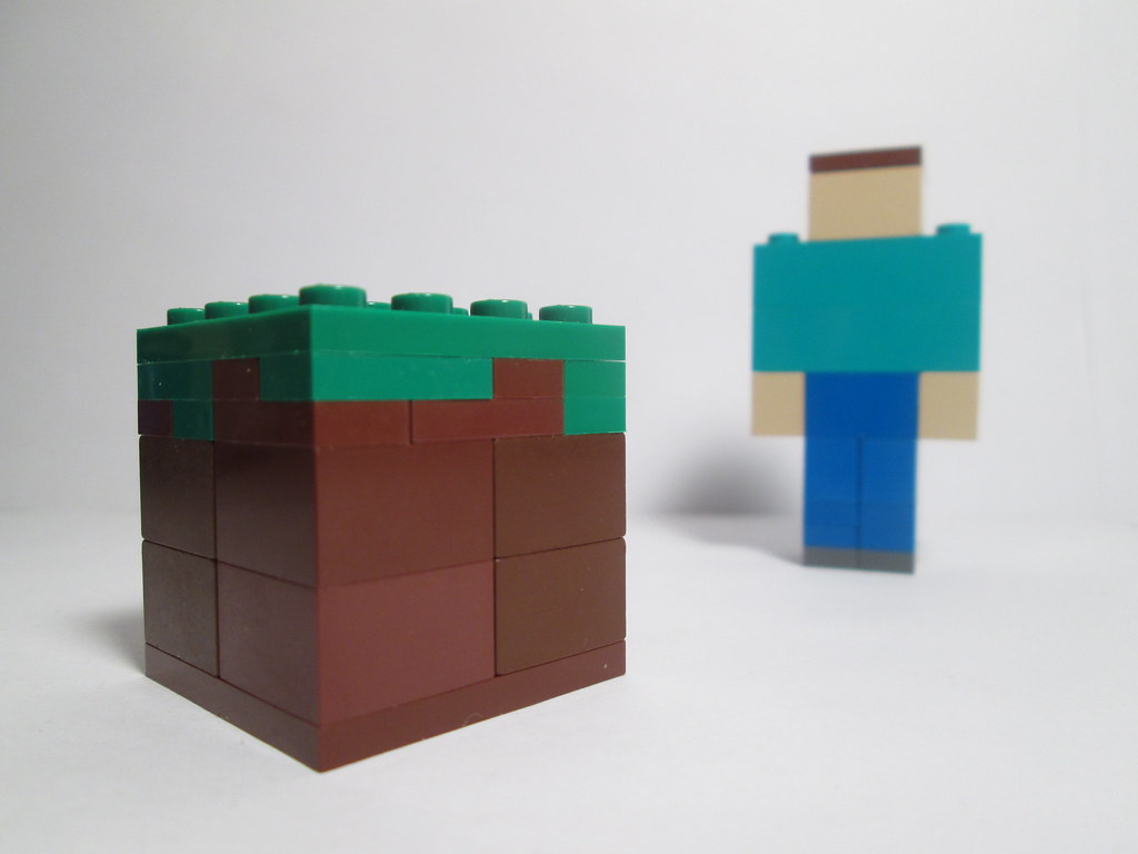 Lego Minecraft Grass Block (With Steve) | Another Lego Minec
