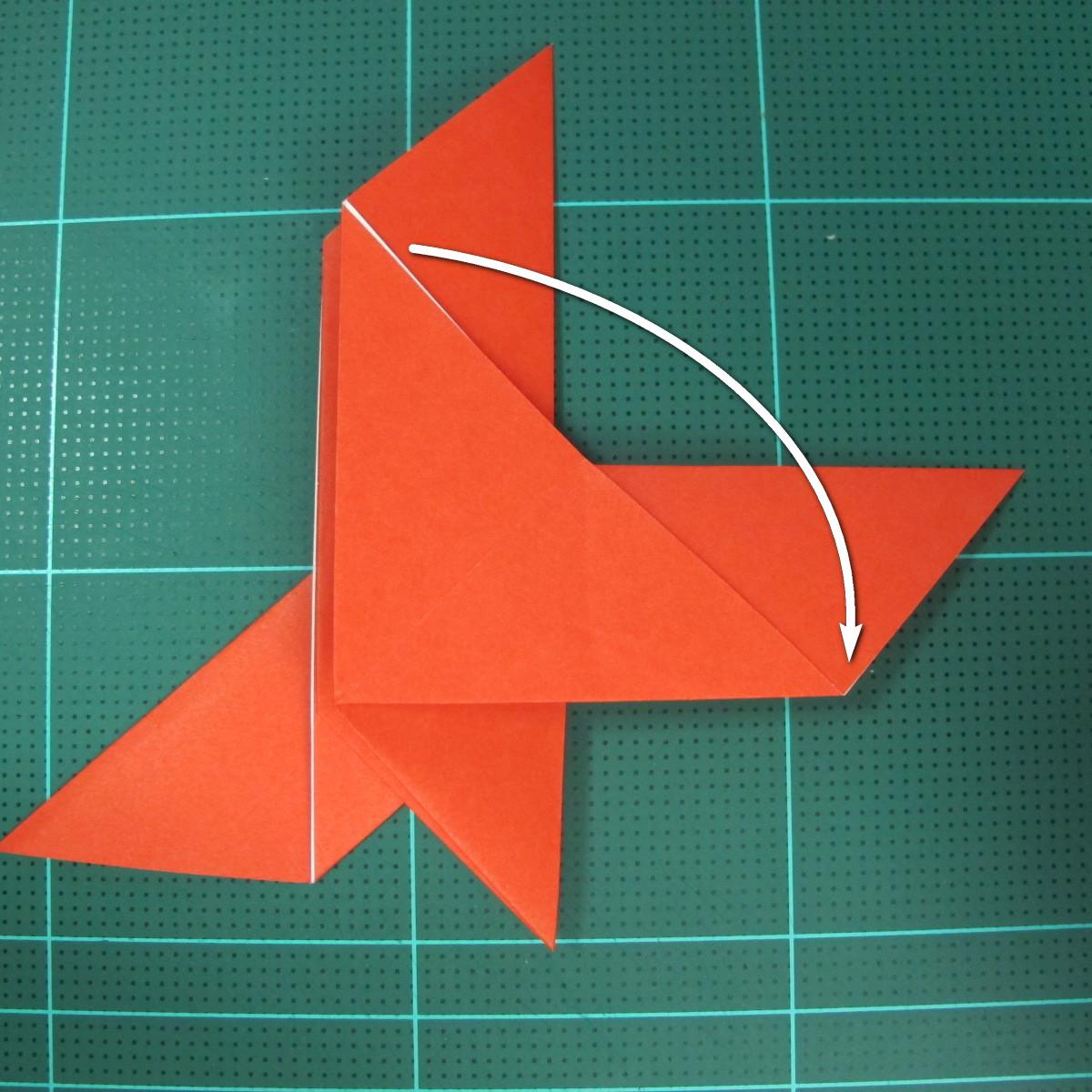การพับกระดาษเป็นนกพิราบ (Origami pigeon) 00021