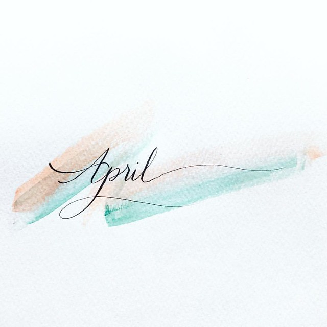 Hello #April, the happy one 🌿  #lystypo